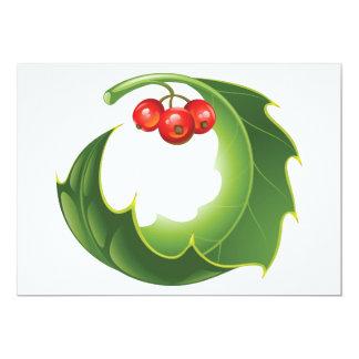 Holly Leaf Invitations