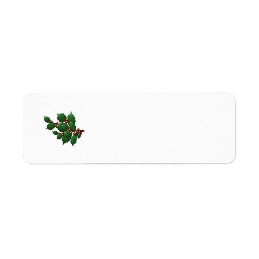 Holly Leaf Return Address Label