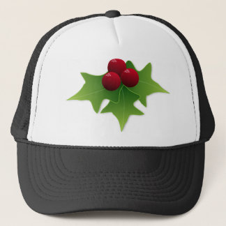 Holly Leaf with Berries Trucker Hat