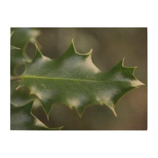 Holly Leaf Wood Wall Decor