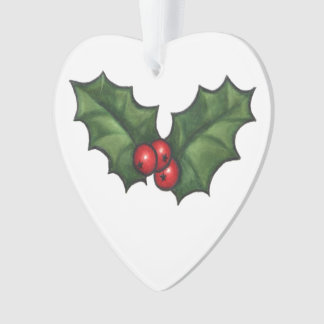 Holly leaves and berries ornament