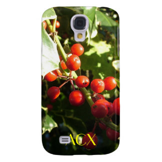 Holly leaves and berries samsung galaxy s4 cover