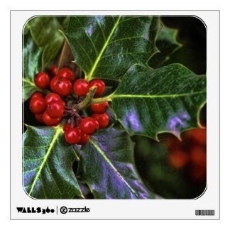 Holly Leaves and Berries Room Stickers