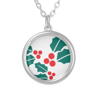 Holly Leaves Christmas Necklaces