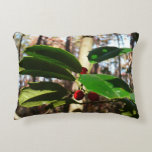 Holly Leaves I Holiday Christmas Nature Botanical Decorative Pillow