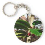 Holly Leaves I Holiday Christmas Nature Botanical Keychain