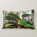 Holly Leaves I Holiday Christmas Nature Botanical Lumbar Pillow