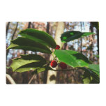 Holly Leaves I Holiday Christmas Nature Botanical Placemat