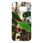 Holly Leaves I Holiday Christmas Nature Botanical Samsung Galaxy S7 Case