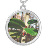 Holly Leaves I Holiday Christmas Nature Botanical Silver Plated Necklace