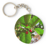 Holly Leaves II Holiday Nature Botanical Keychain
