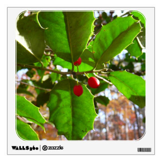 Holly Leaves II Holiday Nature Botanical Wall Decal