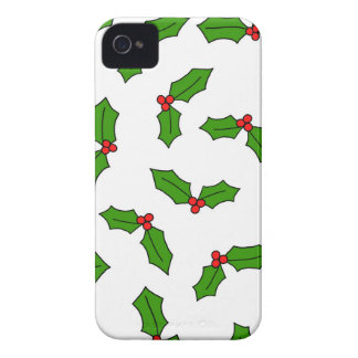 Holly Leaves iPhone 4 Case-Mate Case