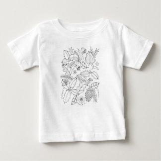 Holly Line Art Design Baby T-Shirt