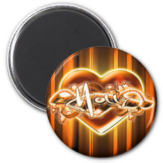 Holly 2 Inch Round Magnet