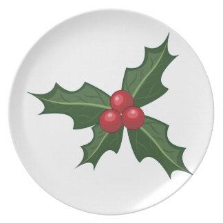 Holly Melamine Plate