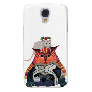 holly mouse cat pug galaxy s4 cover