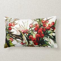 Holly n' Berries Throw Pillows