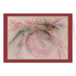 HOLLY 'N ORNAMENTS ~ Happy Holidays Card