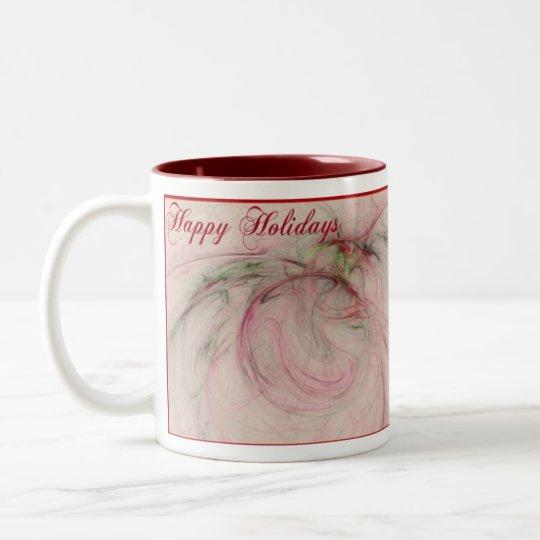 HOLLY 'N ORNAMENTS Two-Tone COFFEE MUG
