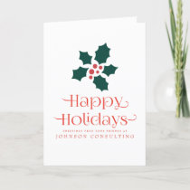 Holly on Red Typography | Holiday Greetings