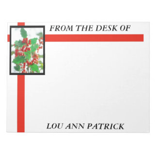 Holly Personalized Notepad