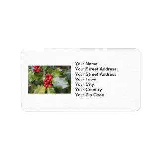 Holly Photo Personalized Address Label
