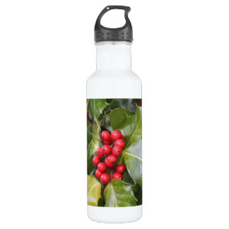 Holly Photo Water Bottle