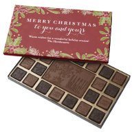 Holly Pine Mistletoe Merry Christmas To You 45 Piece Box Of Chocolates