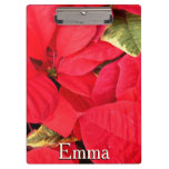 Holly Point Poinsettias Christmas Holiday Floral Clipboard