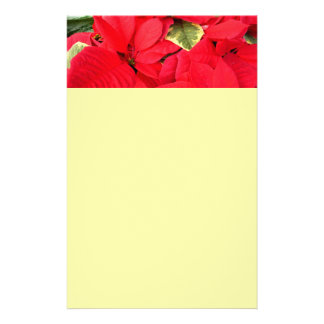 Holly Point Poinsettias Christmas Holiday Floral Stationery