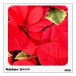 Holly Point Poinsettias Christmas Holiday Floral Wall Decal