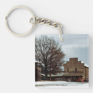 Holly Pond, Alabama 1950's Snow (Keychain) Keychain