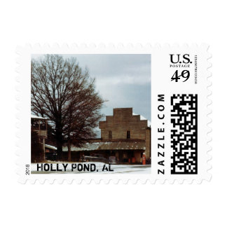 Holly Pond, Alabama 1950's Snow (Stamps) Postage