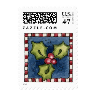 Holly Postage Stamp