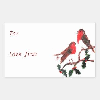 Holly Robin Festive Art Sticker