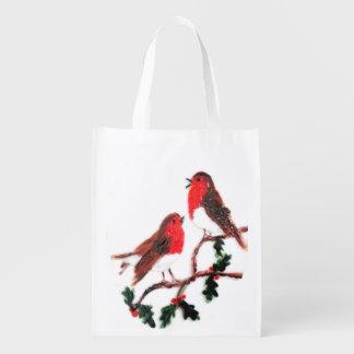 Holly Robins Festive Art Grocery Bag