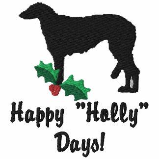 Holly Scottish Deerhound Embroidered TShirt