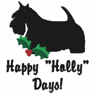 Holly Scottish Terrier Embroidered TShirt