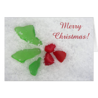 """Holly"" Sea Glass on Snow - Inclusive Card"