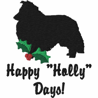 Holly Shetland Sheepdog Embroidered Shirt (LS)