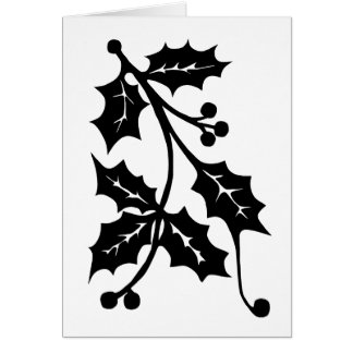 Holly Silhouette - Greeting Card