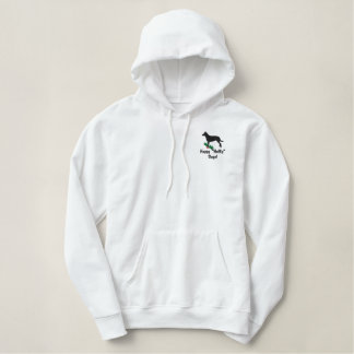 Holly Smooth Collie Embroidered Hooded Sweatshirt