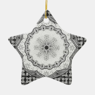 Holly & Snowflake Star Ornament