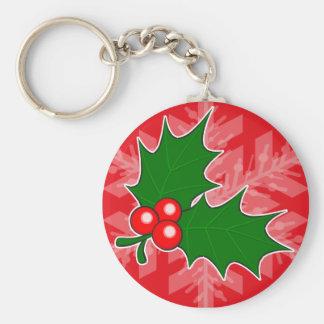 Holly Sprig Key Chains