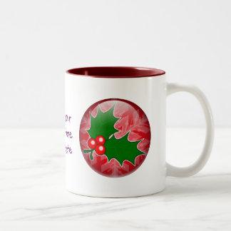 Holly Sprig Two-Tone Coffee Mug