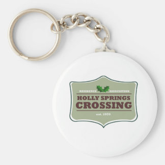 Holly Springs Crossing design Basic Round Button Keychain
