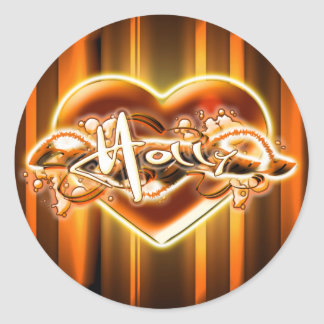 Holly Classic Round Sticker