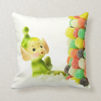 Holly the Pixie Elf Throw Pillow