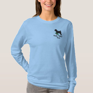 Holly Wheaten Terrier Embroidered Long Slv Shirt